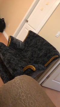 black and gray floral sofa chair Surrey, V3W 1R5
