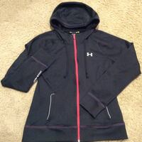 black Under Armour zip-up hoodie