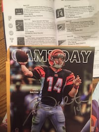 autographed Andy Dalton trading card