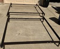 One queen size / one full size metal bed frames - easy to assemble no tools required - price is for each Wylie, 75098
