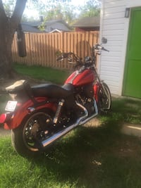 Harley Davidson Red + Black Motorcycle  Rockville
