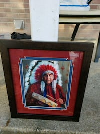 Beautiful handpainting of an INDIAN CHIEF.  Franklin, 37064