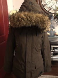 brown and black fur-lined parka 550 km