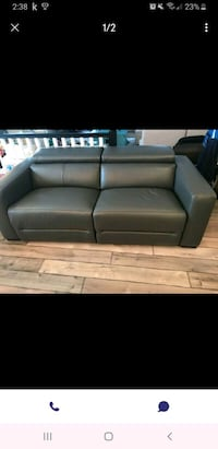 Brand New Grey Leather Reclining Sofa Georgina, L4P 3E9