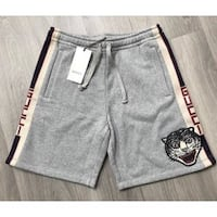 GUCCI SHORTS COTTON STRIPE WITH TIGER IMPRINT SIZE MEDIUM GREY SUPREME LOUIS VITTON GUCCI TEE HOODIE DEADSTOCK BRAND NEW WITH TAGS Vaughan, L4J 3N3