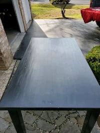 All Black Solid Wood Table for six (6) Great Falls