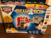 Playskool Heroes Transformers Rescue Bots Beam Box Game System  Beam Box console connects to your TV for hours of Rescue Bots video game fun Insert Optimus Prime figure into the console to play 5 games as Optimus Prime Wireless game controller Play as oth Toronto
