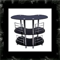 12911 bar glass table Ashburn