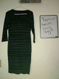 black and gray striped long-sleeved dress Conover, 28613