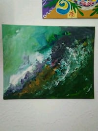 green and blue abstract painting Garland, 75043