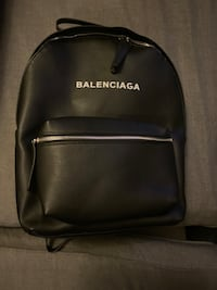 Balenciaga black leatherback pack. New York, 10013