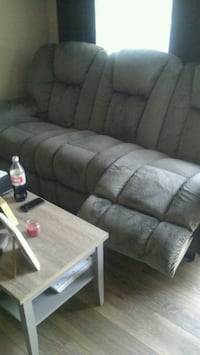 gray fabric 3-seat sofa Fort Saskatchewan, T8L 0K2