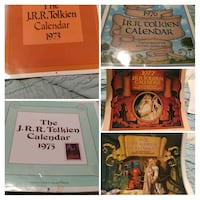 6 Vintage/Collectors Lord of the Rings Calendars 251 mi