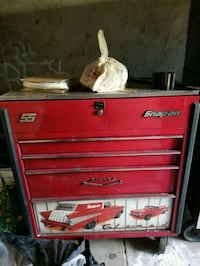 red and gray Snap-On tool cabinet Jessup, 20794