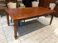 rectangular brown wooden dining table Toronto, M6N