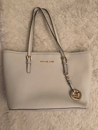 White michael kors leather tote bag New York, 10312