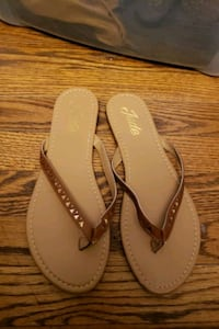 Brown & Gold Flip Flops Gaithersburg