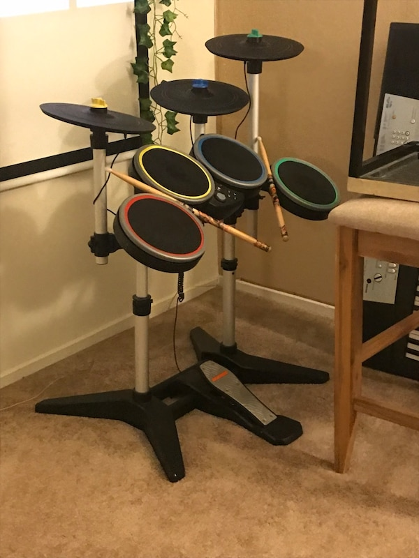 Rock band 4 wireless drum set for ps4 (includes the game and guitar)