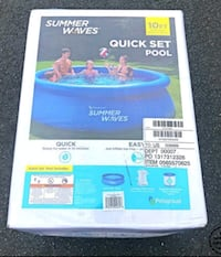 New 10 ft Pool with Pump