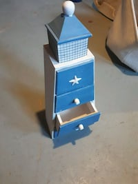3 drawer wooden boathouse $20