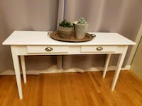Wooden White Console Table Fall River, 02720
