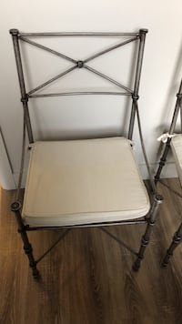 Metal chairs.  X4 seat cushions and matching bakers rack Newmarket, L3Y 9C9