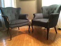 Pair of mid century Queen Anne style lounge chairs - newly upholstered ! Toronto, M2J 2Z7