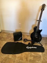 Epiphone Les Paul Electric Guitar Player Package with stand Las Vegas, 89103