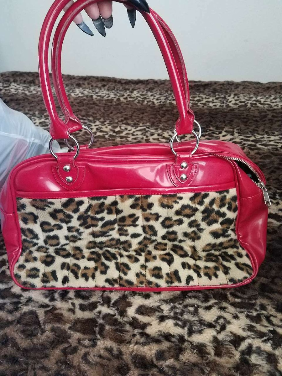 Red leopard lux de ville bag