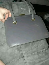 gray leather 2-way bag Waterford, 95386