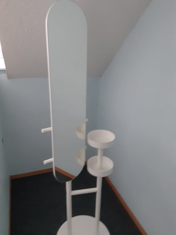 6' White Mirror Stand (Commercial Quality)  e00f0666-bb21-4519-af0e-7d0a3d06738b