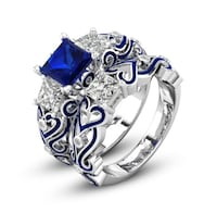 Stunning 925 Sterling Silver with Brilliant Blue Sapphire sz 8&9 SALE!!!!!! Coleman, 76834