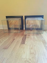 2 football or sports mounted wall display cases Chattanooga