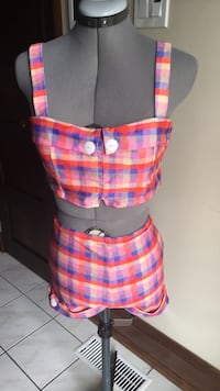 Girl Howdy Vintage Style Prue Plaid Cropped Swim Set Toronto, M8X