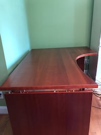 brown wooden single pedestal desk Washington, 20007