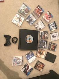 Ps3 slim (with one controller and 18 games)