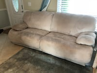 Microfiber double reclining tan couch - priced right - WON'T LAST Boca Raton, 33486