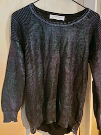 Small Pearlescent black sweater