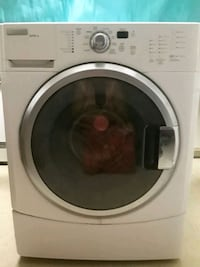 white front-load clothes washer 2372 mi