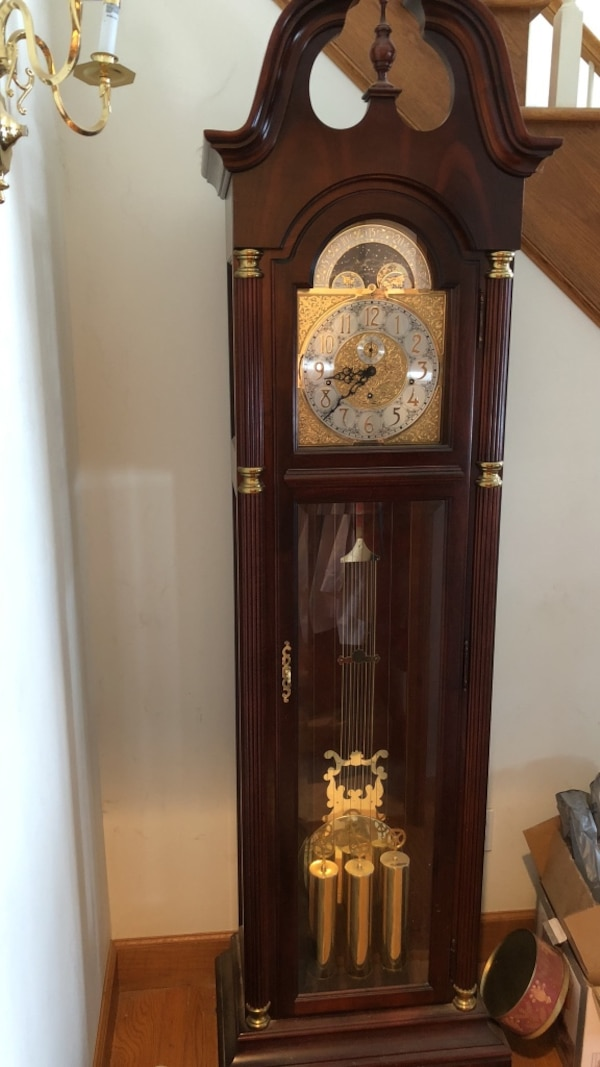 Used 20 Year Old Howard Miller Grandfather Clock For Sale