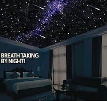 Amazing Glow In The Dark Starscapes Ceiling Painting