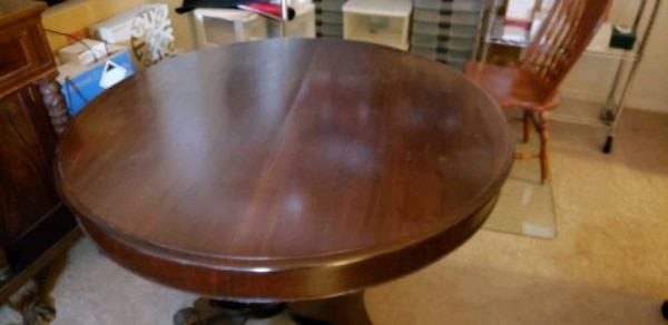 Two For $850: Classic Federal Empire Sideboard & Split RoundtopTable e94204b4-fbb1-4e16-8dcc-eb91655254a2