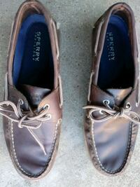 pair of brown Sperry leather boat shoes Imperial, 63052