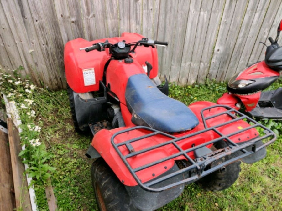 Photo Kawasaki Prairie 2WD ATV Runs but selling For Parts