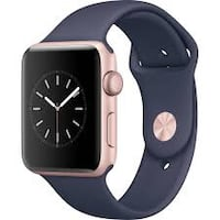 Apple Watch Series 2 38mm Smartwatch (Gold Aluminum Case, Midnight Blue Sport Band Reston, 20190
