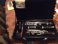 Black clarinet in case