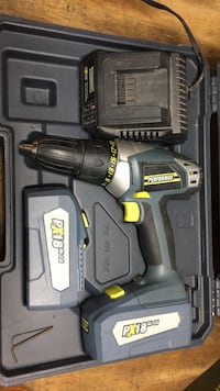 Green and black cordless hand drill with case Lake Zurich, 60047