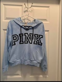 PINK pullover hoodie Extra small