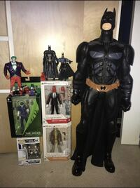 Super hero action figures. Prices vary