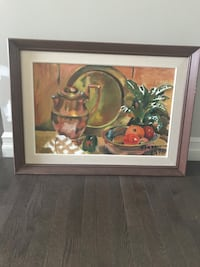 brown wooden framed painting of woman Edmonton, T5X 0H2